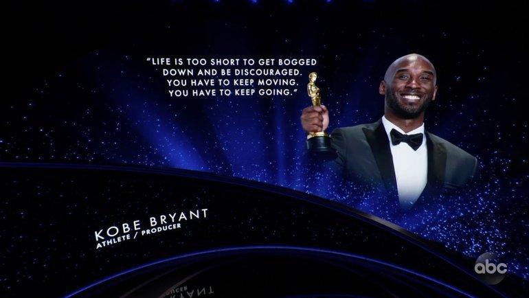 Память Коби Брайанта почтили вовремя церемонии вручения премии «Оскар».