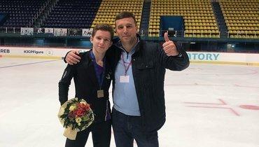 Андрей Мозалёв (слева) итренер Кирилл Давыденко.
