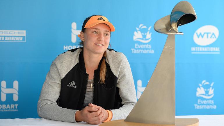 Вянваре Елена Рыбакина выиграла турнир вавстралийском Хобарте. Фото twitter.com