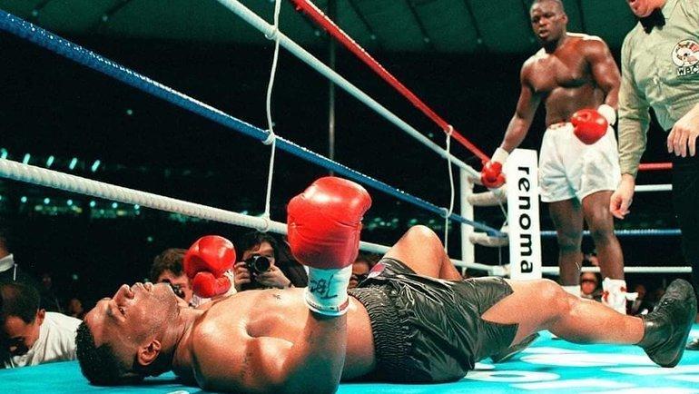 11февраля 1990 года. Токио. Джеймас Бастер Дуглас нокаутировал Майка Тайсона.
