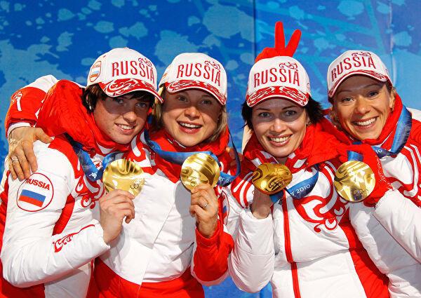 Женская сборная России побиатлону. Фото РИА Новости
