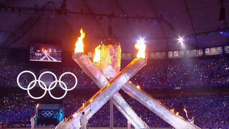 Церемония открытия Олимпиады-2010. Фото РИА Новости