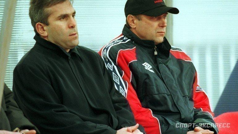 """Авалу Шамханов (слева) иОлег Долматов. Фото Александр Федоров, """"СЭ"""""""