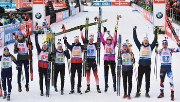 13февраля. Антерсельва. Норвегия выиграла первую гонку чемпионата мира.