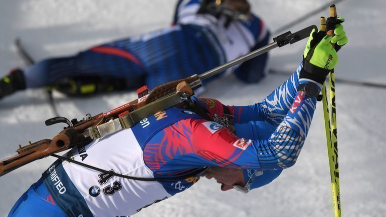 15февраля. Антерсельва. Александр Логинов. Фото AFP