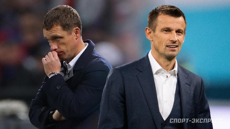 Виктор Гончаренко (слева) иСергей Семак. Фото «СЭ»