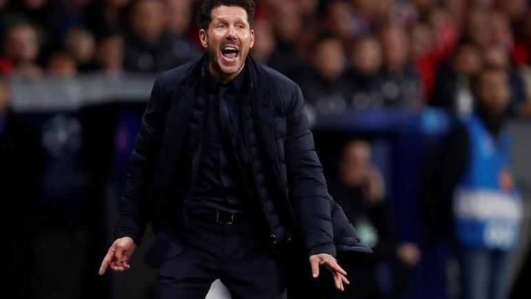 Главный тренер «Атлетико» Диего Симеоне. Фото УЕФА