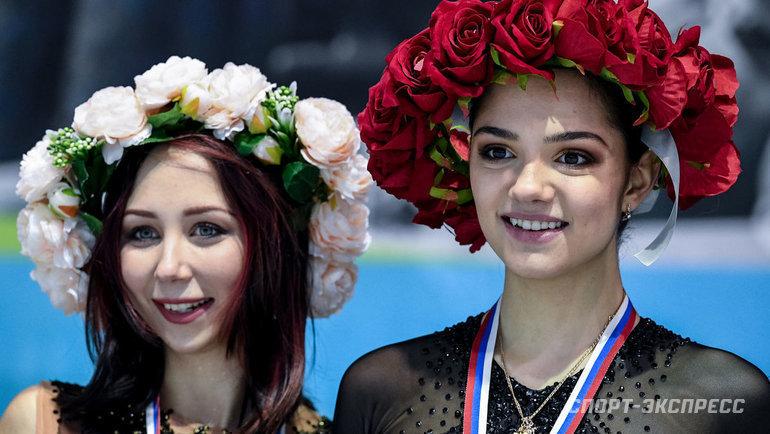 Елизавета Туктамышева (слева) иЕвгения Медведева. Фото Дарья Исаева, «СЭ»