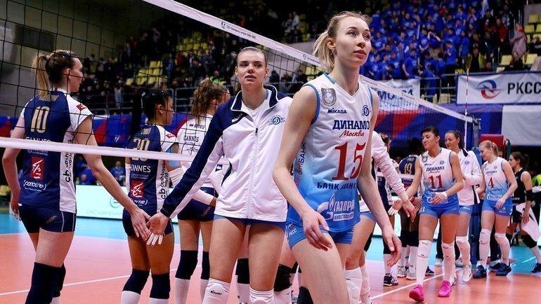 Женское московское «Динамо» вышло вплей-офф Лиги чемпионов. Фото vk.com/vldinamo