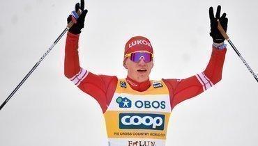 Большунов выиграл масс-старт на «Ски туре»