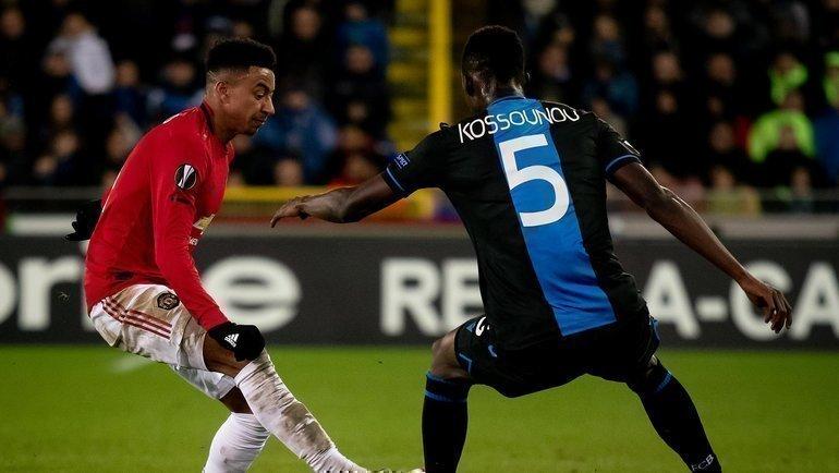 20февраля. «Брюгге»— «Манчестер Юнайтед»— 1:1. Фото Пресс-служба «Манчестер Юнайтед».