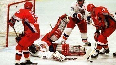 22 года хоккейному финалу вНагано. Гашек остановил Буре исборную России