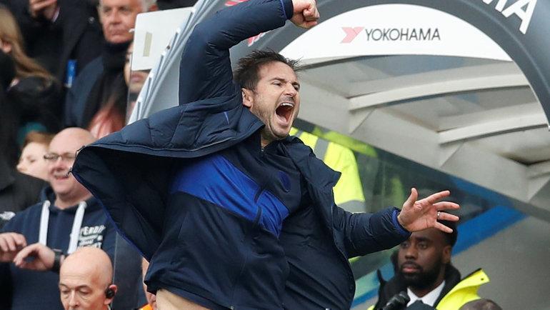 22февраля. Лондон. «Челси»— «Тоттенхэм»— 2:1. Эмоции главного тренера «синих» Фрэнка Лэмпарда после финального свистка. Фото Reuters
