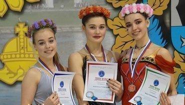 (слева направо) Анастасия Губанова, Анастасия Гулякова иМария Талалайкина.