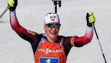 Ройселанн выиграла женский масс-старт начемпионате мира, Юрлова-Перхт стала шестой