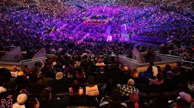 24февраля. Лос-Анджелес. Церемония прощания сКоби Брайантом. Фото Reuters