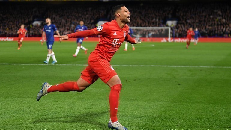 25февраля. Лондон. «Челси»— «Бавария»— 0:3. Серж Гнабри празднует гол. Фото УЕФА
