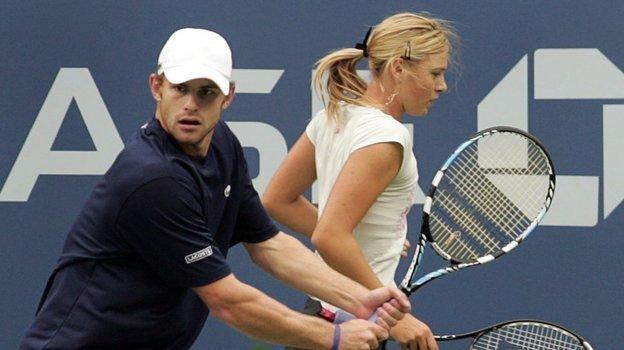 Энди Роддик и Мария Шарапова. Фото Reuters