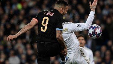 «Манчестер Сити» победил «Реал» вМадриде, Рамос получил красную