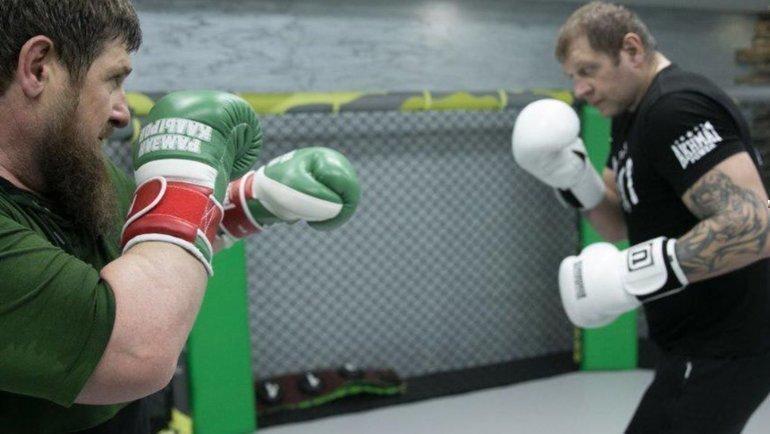 Рамзан Кадыров (слева) иАлександр Емельяненко. Фото instagram.com