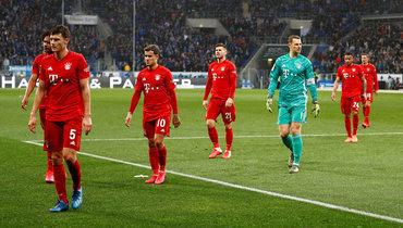 29февраля. Зинсхайм. «Хоффенхайм»— «Бавария»— 0:6. Игроки «Баварии» покидают поле— матч был прерван из-за оскорбительного баннера фанатов мюнхенской команды.