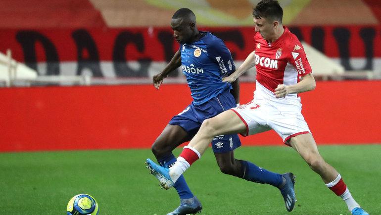"""29 февраля. Монако. """"Монако"""" - """"Реймс"""" - 1:1. В игре Александр Головин (справа). Фото AFP"""