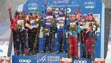 Сборная России заняла третье место вэстафете.