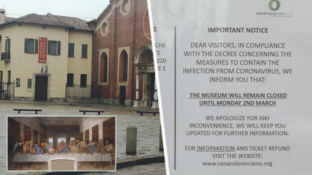 """Санта-Мария-делле-Грацие, где висит «Тайная вечеря», закрыта для посещения. Фото """"СЭ"""""""