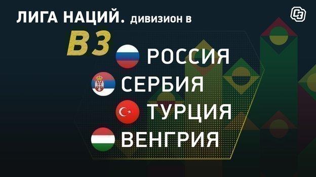 ВЛиге наций Россия сыграет сСербией, Венгрией иТурцией