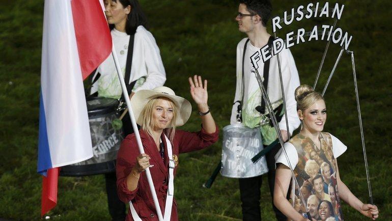 27июля 2012 года. Лондон. Мария Шарапова наоткрытии летних Олимпийских игр. Фото Reuters