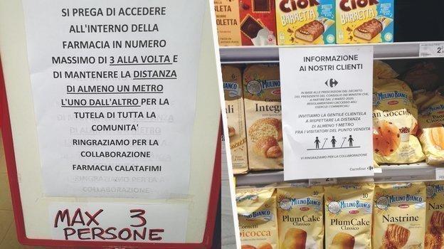 """Инструкции о «больше трех несобираться» ваптеке иодопустимом расстоянии всупермаркете. Фото """"СЭ"""""""