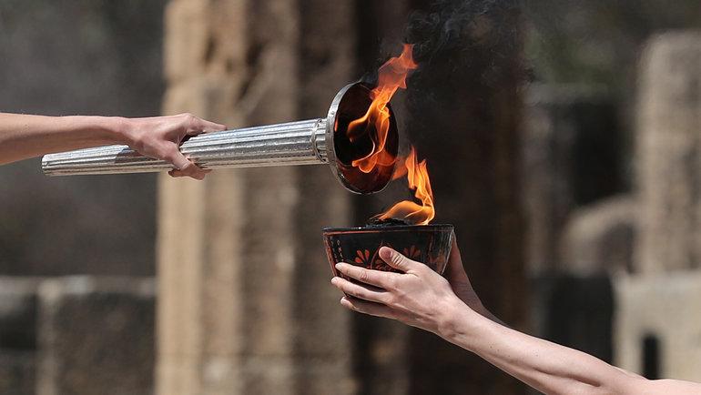 12марта. Олимпия. Церемония зажжения олимпийского огня.