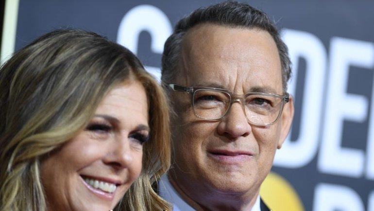 Том Хэнкс иего жена Рита. Фото AFP