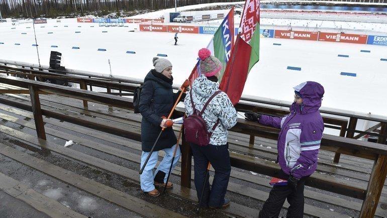 Мужской спринт вЛахти прошел без зрителей. Фото AFP