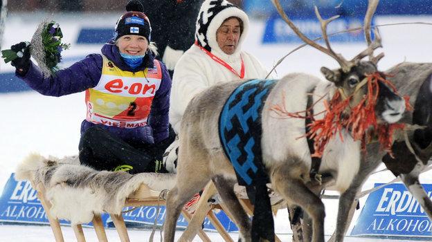 2011 год. Кайса Мякяряйнен. Фото AFP