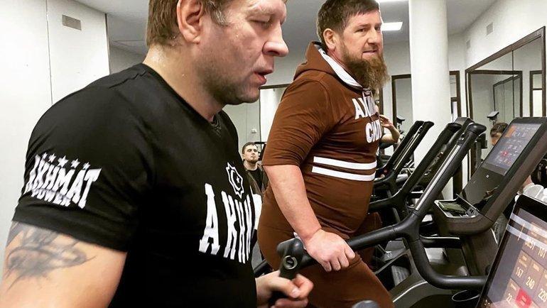 Александр Емельяненко и Рамзан Кадыров. Фото Instagram.