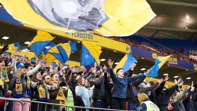 Благодаря новому стадиону ихорошим результатам, «Ростов» переживает пик популярности. Фото ФК «Ростов»