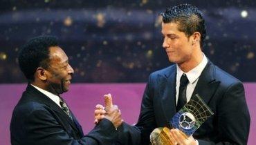 Пеле назвал Роналду лучшим игроком современности, асебя— лучшим вистории