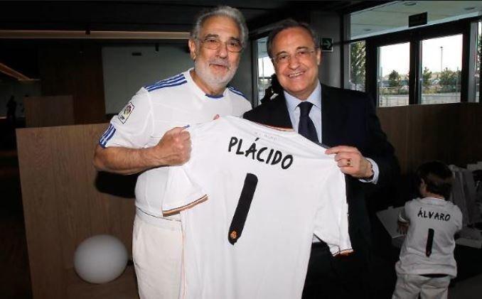 Пласидо Доминго иФлорентино Перес. Фото ФК «Реал»