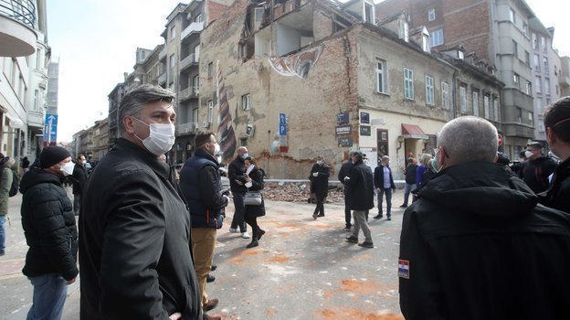 Последствия землетрясения в Загребе. Фото AFP
