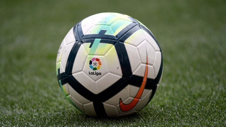 Официальный мяч лалиги. Фото AFP