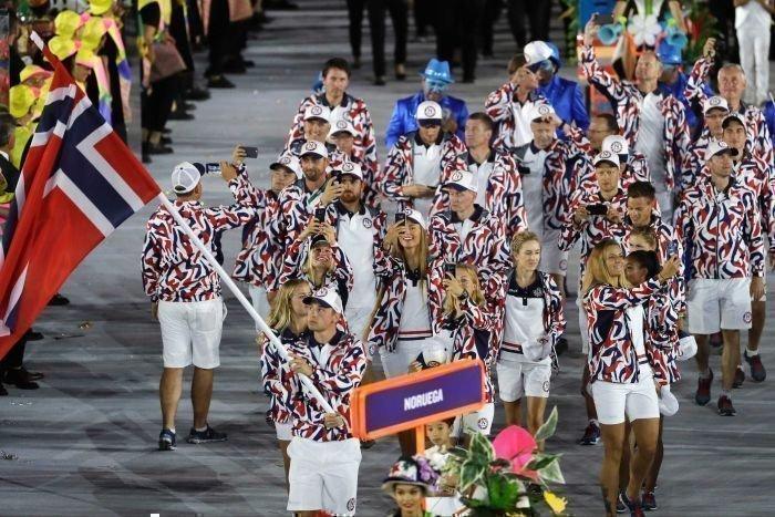 Делегация сборной Норвегии на Олимпиаде в Рио. Фото ABC