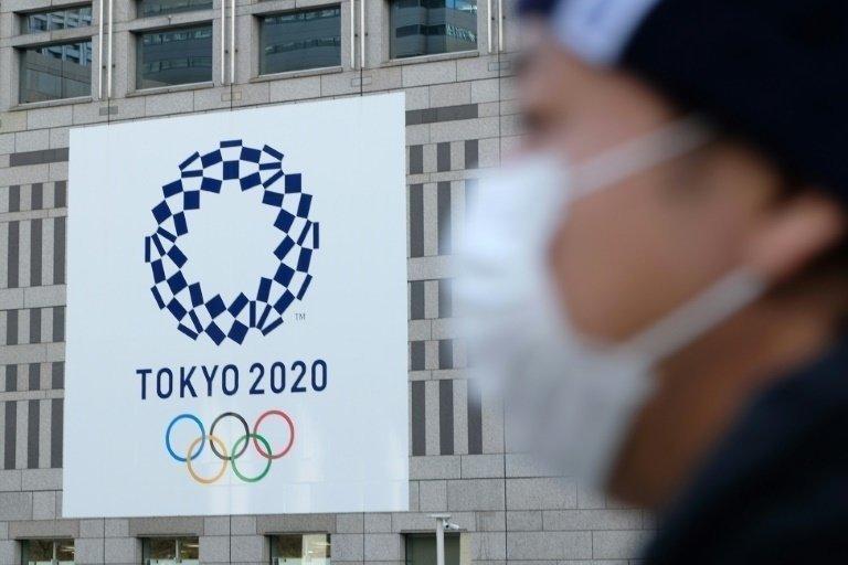 Логотип Олимпиады-2020. Фото AFP