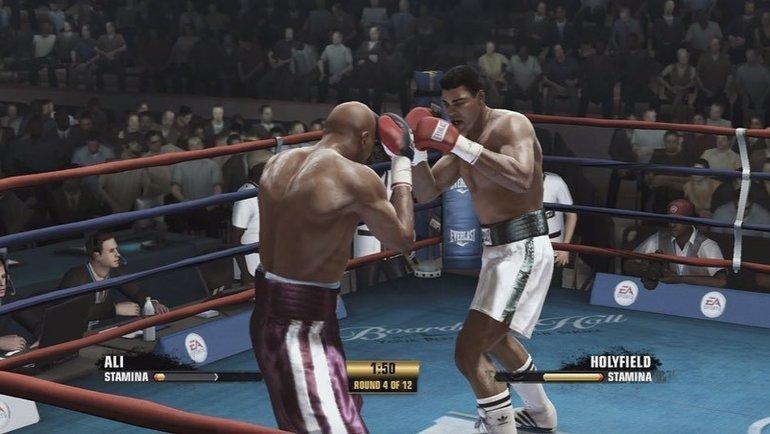 Виртуальный бой Мухаммеда Али (справа) иЭвандера Холифилда. Фото instagram.com