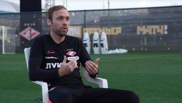 Тренер «Спартака» Андреас Хинкель рассказал оглавных ошибках Александра Глеба