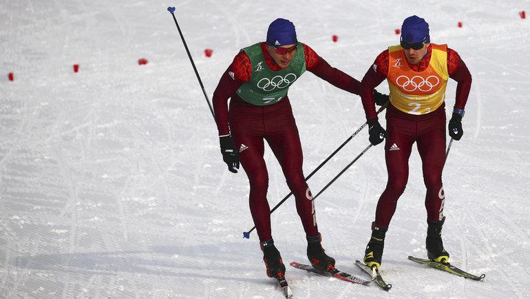 Александр Большунов иАлексей Червоткин. Фото Reuters
