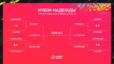 «Кубок Надежды»: сетка плей-офф. Фото «СЭ»