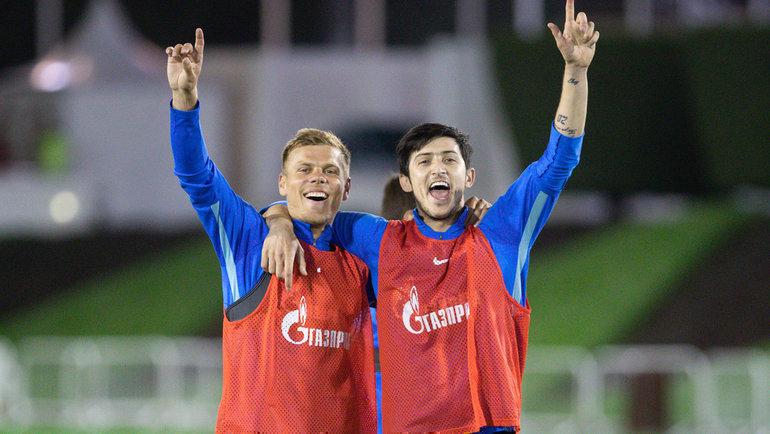 Александр Кокорин и Сердар Азмун. Фото ФК «Зенит»