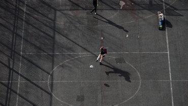 Уличный футбол вМоскве.