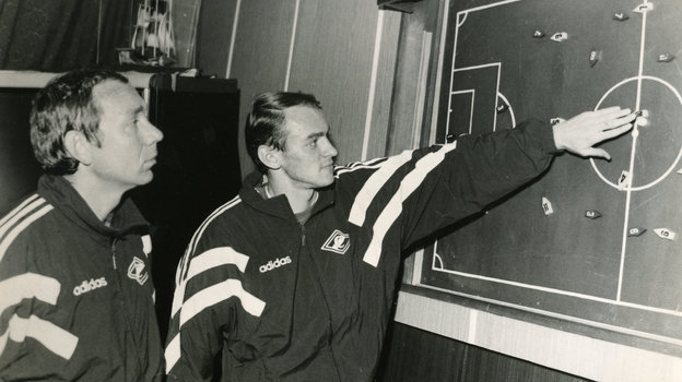 1993 год. Олег Романцев иВиктор Онопко. Фото Игорь Уткин